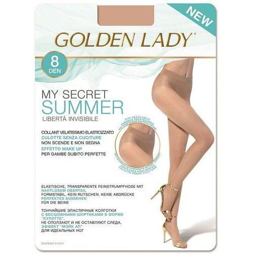 Rajstopy Golden Lady My Secret Summer 8 den 4-L, beżowy/dakar, Golden Lady, kolor beżowy