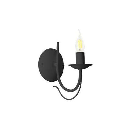 Lampex Kinkiet candle czarny