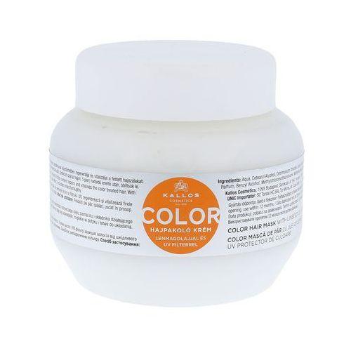 Kallos kjmn maseczka do włosów farbowanych (color hair mask with linseed oil and uv filter) 275 ml (5998889501075)