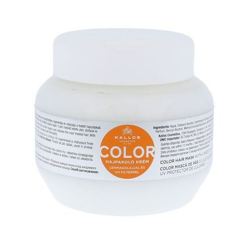 kjmn maseczka do włosów farbowanych (color hair mask with linseed oil and uv filter) 275 ml marki Kallos