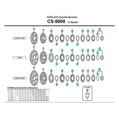 Shimano Koronka kasety 13z cs9000 z pierścieniem przedostatnia (4524667948773)
