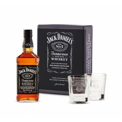 Jack daniel distillery Whiskey jack daniel's zestaw prezentowy ze szklankami puszka 0,7l