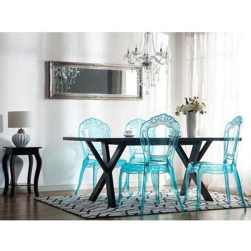 Zestaw do jadalni 2 krzesła przezroczysto-niebieskie vermont marki Beliani