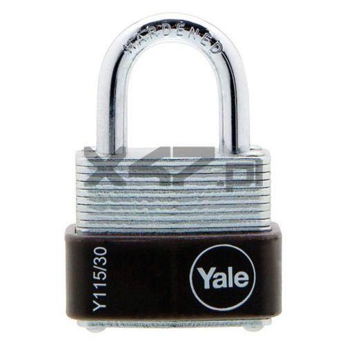 Y115/30/117/1 Mała kłódka ze stali laminowanej z pałąkiem ze stali hartowanej Yale, D4BA-84259