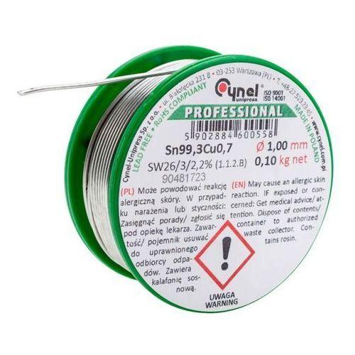 Spoiwo lutownicze bezołowiowe Cynel 1,0 mm 100 g (5902884600558)
