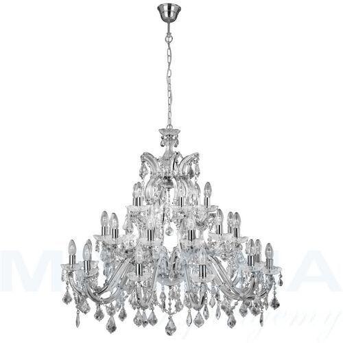 Searchlight Marietherese lampa wisząca 30 chrom kryształ