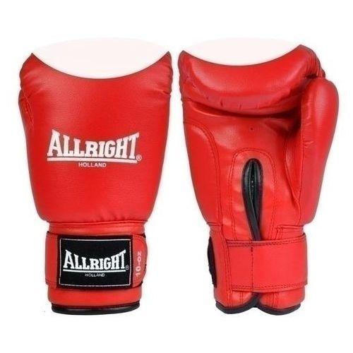 Rękawice bokserskie pvc 6oz czerwono - białe marki Allright