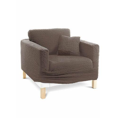 Pokrowiec/poszewki na poduszki z kreszowanego materiału brązowy marki Bonprix