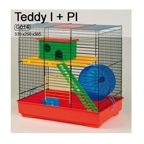 Inter-zoo teddy i g014 klatka dla chomika z wyposażeniem 37x25x38,5cm marki Inter zoo