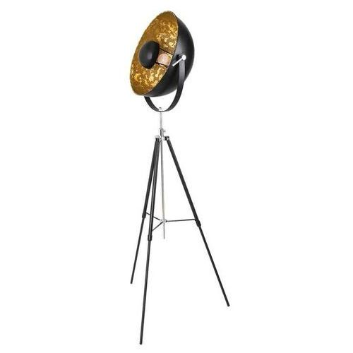 Lampa podłogowa nataniel 4119 lampa stojąca 1x40w e27 czarny / złoty marki Rabalux