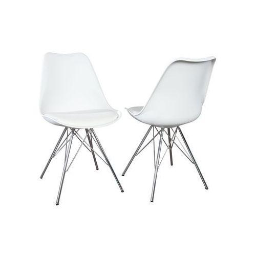Krzesło Astoria New retro białe (nowa wersja) - biały, kolor biały