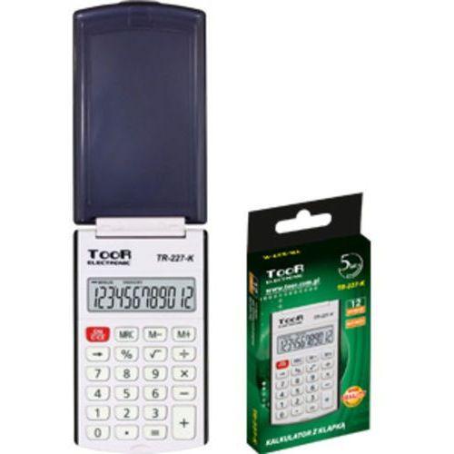 Kalkulator kieszonkowy tr-227k z klapką marki Toor