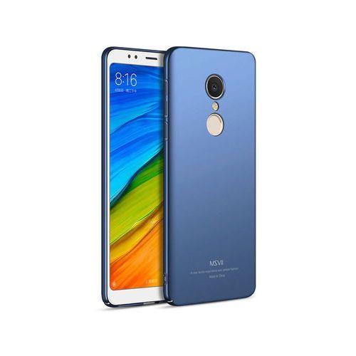Msvii Etui thin case xiaomi redmi 5 plus niebieskie + szkło - niebieski
