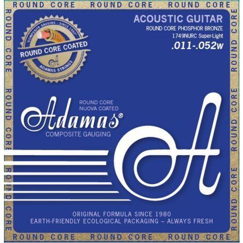 Adamas (664682) Phosphor Bronze Nuova powlekane struny do gitary akustycznej - Super Light.011-.052