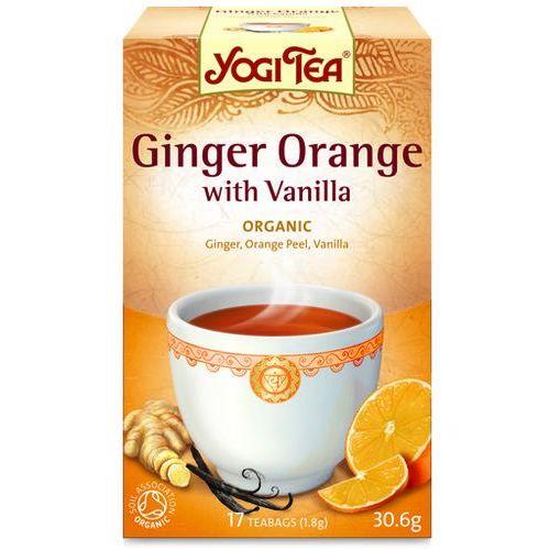 Yogi tea (herbatki) Herbatka imbirowo-pomarańczowa z wanilią bio (17 x 1,8 g) herbata yogi tea