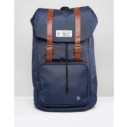 Original Penguin Twin Strap Pearl Backpack - Navy