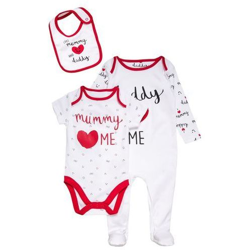 mothercare UNISEX MUMMY AND DADDY BABY SET Body black/white, PD390