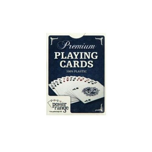 Karty pokerowe Premium 100% plastik (niebieskie) - SZYBKA WYSYŁKA (od 49 zł gratis!) / ODBIÓR: ŁOMIANKI k. Warszawy (7350034086161)