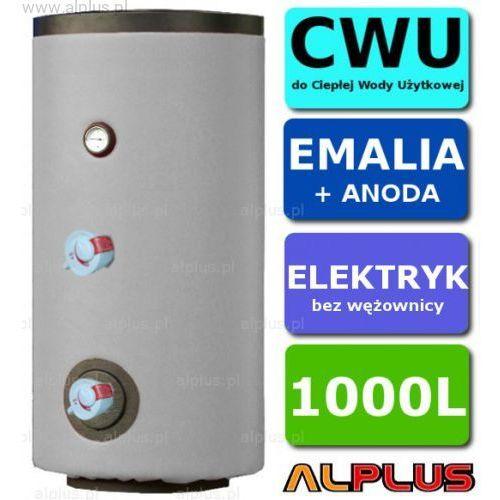 Elektryczny bojler 1000L Lemet 6kW (2 grzałki po 3kW lub inne do wyboru) EMALIOWANY, Ogrzewacz wody elektryczny pionowy stojący, 1000 litrów, 202cm x 101cm, Wysyłka gratis, L15.1000EL