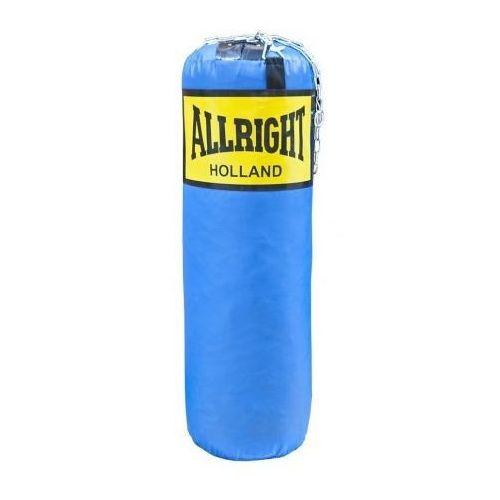 Worek bokserski 90 x 30cm 14kg niebieski, łańcuch marki Allright