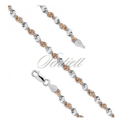 Sentiell Silver (925) twisted chain necklace with balls Ø 040 - twmbg40_g