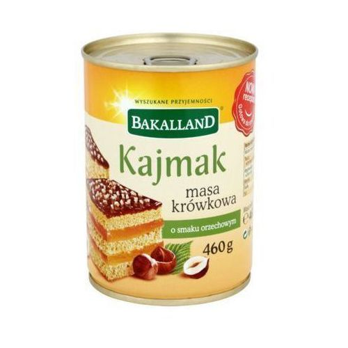 Bakalland 460g kajmak masa krówkowa o smaku orzechowym