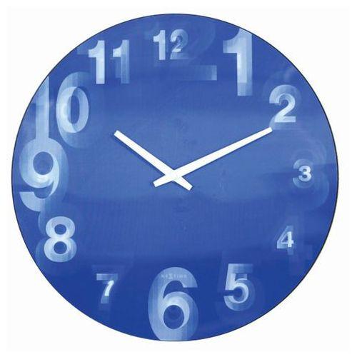 - zegar ścienny 3d 39 cm - niebieski marki Nextime