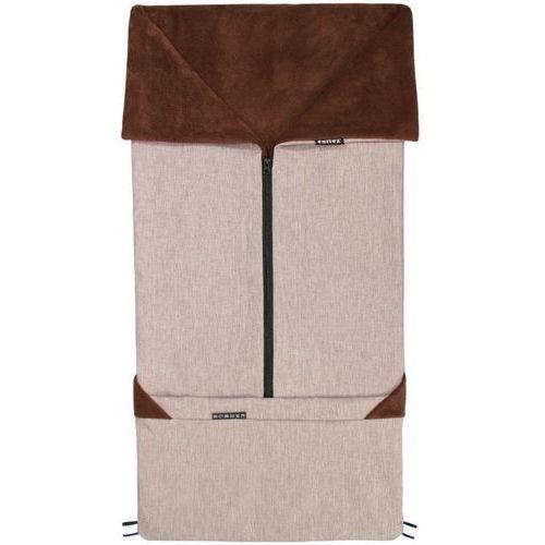 śpiworek do wózka/fusak 2w1 sebi, brązowy marki Emitex