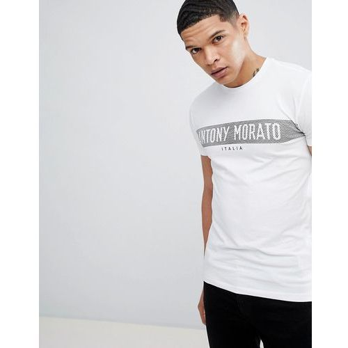 Antony Morato T-Shirt In White With Logo Print - White, kolor biały