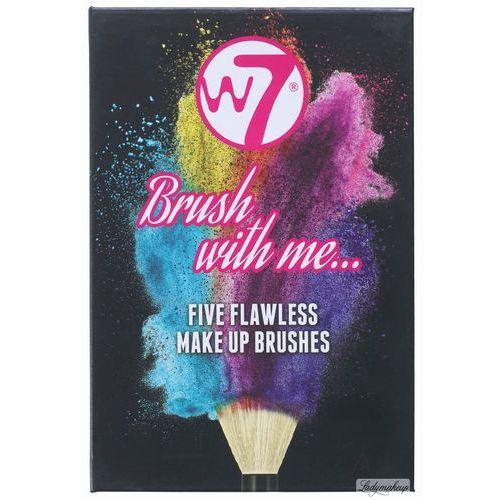 W7  - brush with me... - five flavless mke up brushes - zestaw 5 pędzli do makijażu