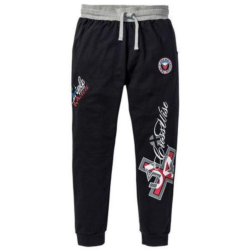 """Spodnie dresowe """"slim fit"""" czarny marki Bonprix"""