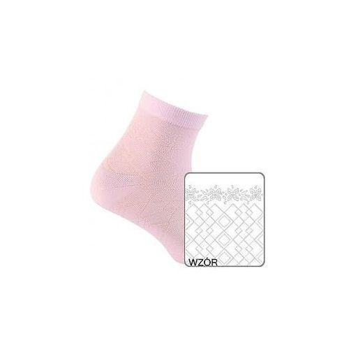 Skarpety cottoline żakard wiosenno-letnie g24.60n 2-6 lat 21-23, biały, gatta marki Gatta