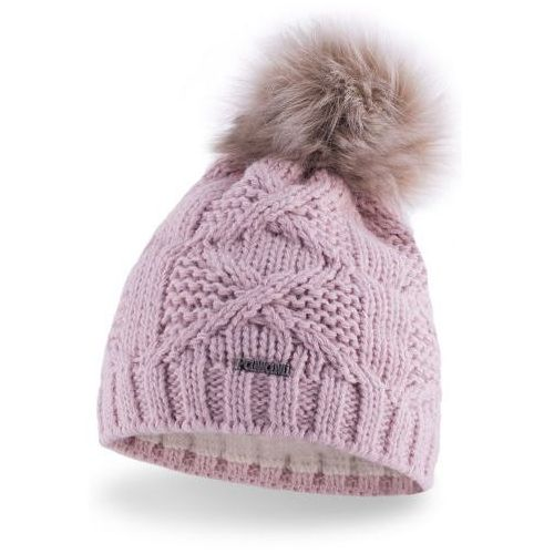 OKAZJA - Damska czapka zimowa z pomponem 17545/4 - pastelowy róż marki Pamami