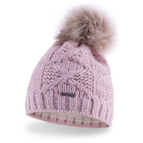 OKAZJA - Pamami Damska czapka zimowa z pomponem 17545/4 - pastelowy róż