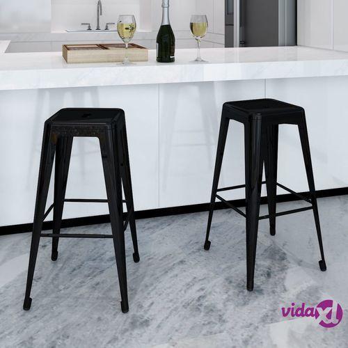 kwadratowe stołki barowe, 2 szt., czarne marki Vidaxl