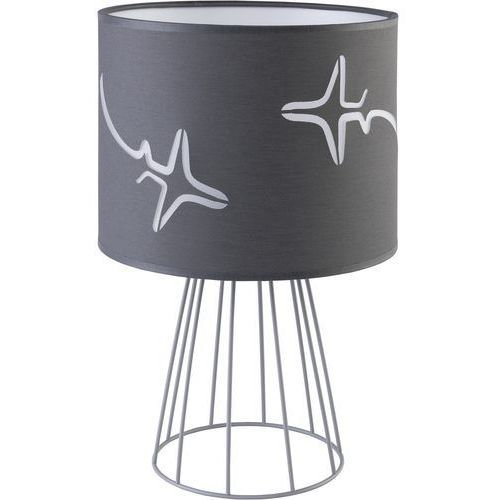 Tklighting Lampa biurkowa oprawa stołowa tk lighting avion 1x60w e27 szara 2895 (5901780528959)