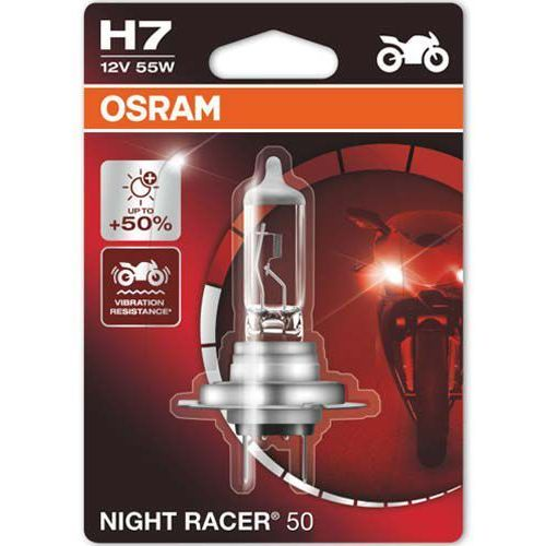 Osram® Żarówka do motocykla h7 night racer® 50 | blister 1 szt.