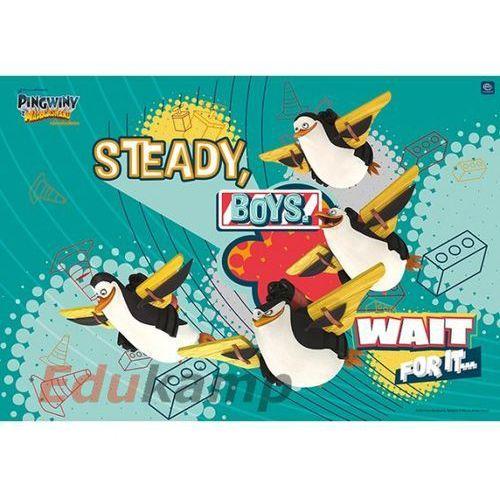 Podkładka sztywna 55x38cm  pingwiny z madagaskaru marki Interdruk