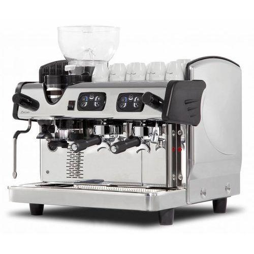 Ekspres ciśnieniowy do kawy 2 kolbowy z wbudowanym młynkiem marki Resto quality