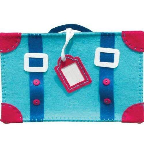 Filcowe robótki, walizka niebieska marki Stnux