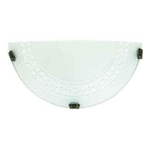 Lampex k1 madryt 227/k1 eco kinkiet lampa ścienna 1x60w e27 biały / szary (5902622104584)