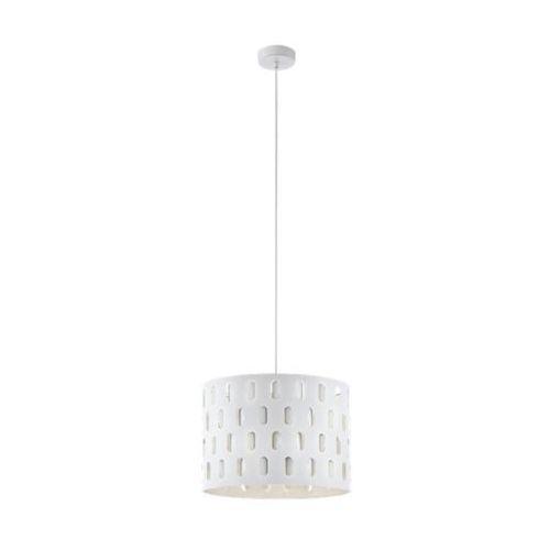 ronsecco 98274 lampa wisząca zwis oprawa 1x60w e27 biała marki Eglo