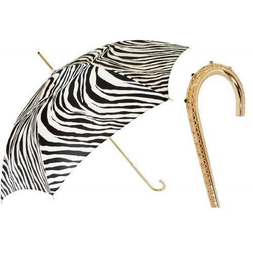 Parasol zebrine with a jeweled handle, podwójny materiał, 460 21028-55 u2 marki Pasotti