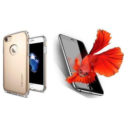 Zestaw | spigen sgp neo hybrid armor champagne gold | obudowa + szkło ochronne perfect glass dla modelu apple iphone 7 marki Sgp - spigen / perfect glass
