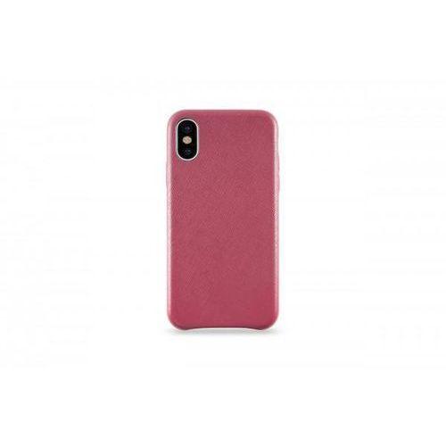 Leather Case do iPhone X skórzane czerwone, kolor czerwony