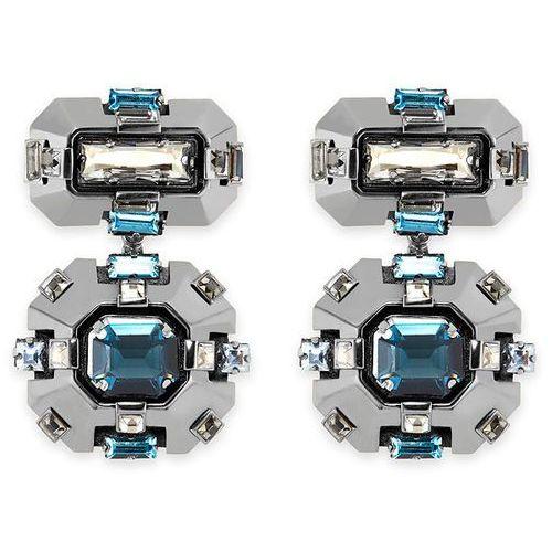 Swarovski Cristaux Deco Drop Clip Earrings, ruthenium plating White Rhodium-plated - produkt z kategorii- Kolczyki