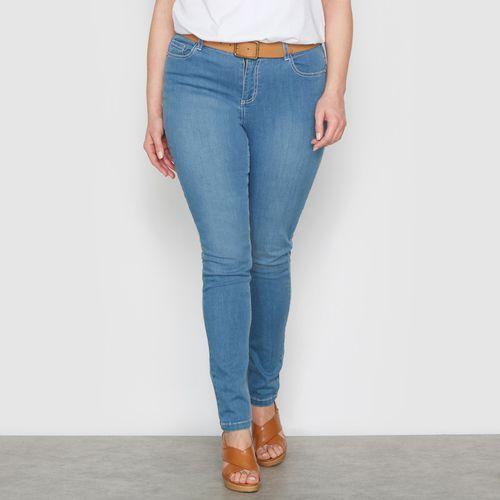 """Streczowe dżinsy slim """"obfite kształty"""" wewn. dł. nogawki. 78 cm"""