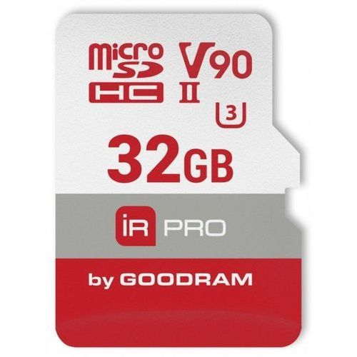 Karta pamięci GOODRAM micro SDHC 32GB V90 UHS-II U3 280/240 MB/s Iridium Pro + adapter + DARMOWY TRANSPORT!
