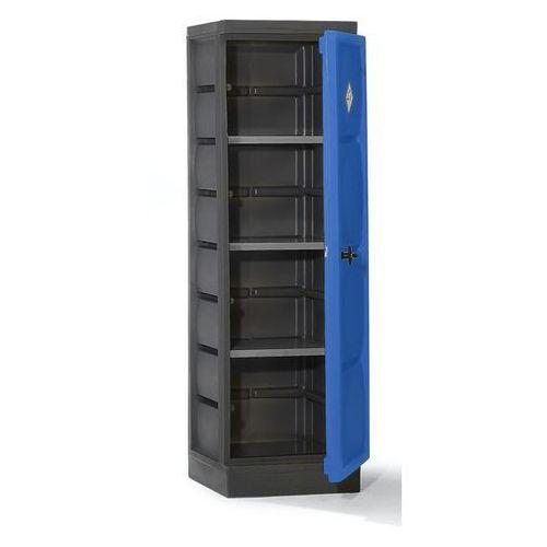 Szafa ekologiczna z PE, 1-drzwiowa, półki ocynkowane. Do przepisowego składowani