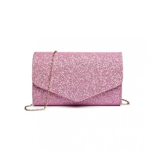 Miss lulu Szałowa kopertówka z cekinami różowy